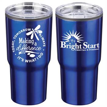 Making A Difference Today, Tomorrow & Always: It's What I Do Positivity Timber Insulated Stainless Steel Tumbler 20-Oz. with Personalization