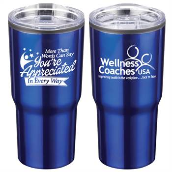More Than Words Can Say You're Appreciated In Every Way Positivity Timber Insulated Stainless Steel Tumbler 20-Oz. with Personalization