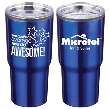 We Don't Do Average, We Do Awesome! Positivity Timber Insulated Stainless Steel Tumbler 20-Oz. with Personalization