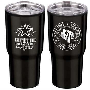 Positivity Black Timber Insulated Stainless Steel Travel Tumbler 20-Oz. With Personalization