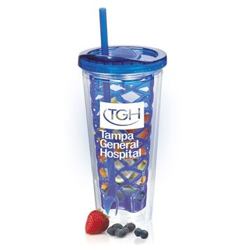 Blue Fruit-To-Go Infuser Tumbler 20-oz. - Personalization Available