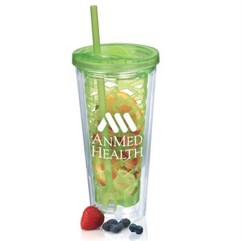 Green Fruit-To-Go Infuser Tumbler 20-oz. - Personalization Available
