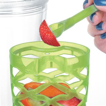 Fruit-To-Go Infuser Tumbler (Green)