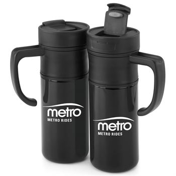 Montauk Insulated Black Travel Mug 15-oz. - Personalization Available