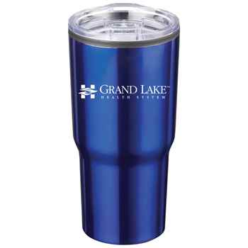 Timber Insulated Stainless Steel Blue Travel Tumbler 20-oz. - Personalization Available