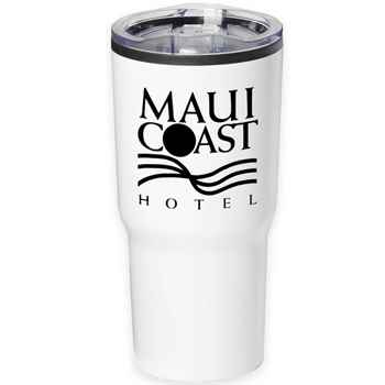 Timber Insulated Stainless Steel White Travel Tumbler 20-Oz. - Personalization Available