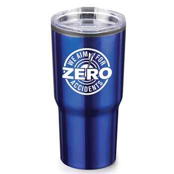 We Aim For Zero Accidents Timber Insulated Stainless Steel Travel Tumbler 20-Oz.