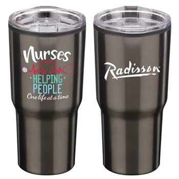 Nurses: Helping People One Life At A Time Timber Insulated Stainless Steel Travel Tumbler 20-Oz. - Personalization Available