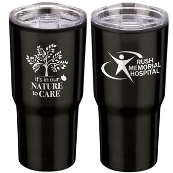 It's In Our Nature To Care Timber Insulated Stainless Steel Travel Tumbler 20-Oz. - Personalization Available