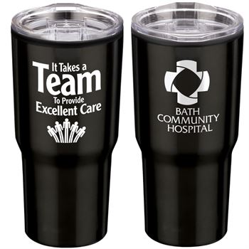 It Takes A Team To Provide Excellent Care Timber Insulated Stainless Steel Travel Tumbler 20-Oz. - Personalization Available