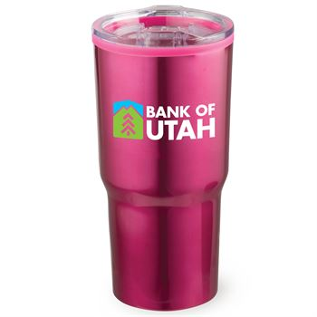 Pink Timber Insulated Stainless Steel Travel Tumbler 20-Oz. - Full Color Personalization Available