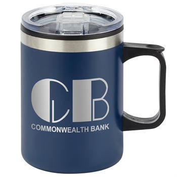 Sonoma Stainless Steel Mug 12-Oz. (Blue) - Personalization Available