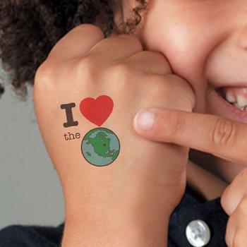 I (Heart) The (Earth) Temporary Tattoo