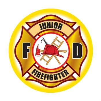 Junior Firefighter Maltese Cross Temporary Tattoos