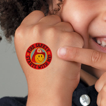 Fire Safety Starts With Me! Temporary Tattoos