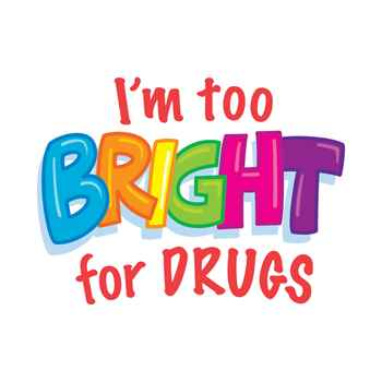 I'm Too Bright For Drugs Temporary Tattoos - Pack of 100