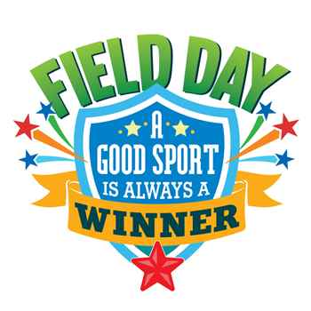 Field Day: A Good Sport Is Always A Winner Temporary Tattoos - Shield Design