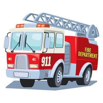 Fire Department Truck Temporary Tattoos - 100 per pack