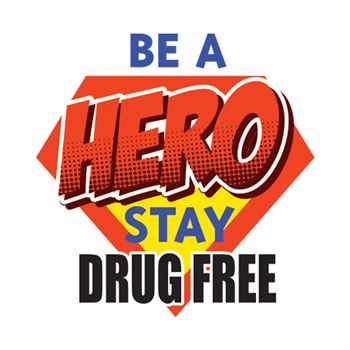 Be A Hero: Stay Drug Free Temporary Tattoo