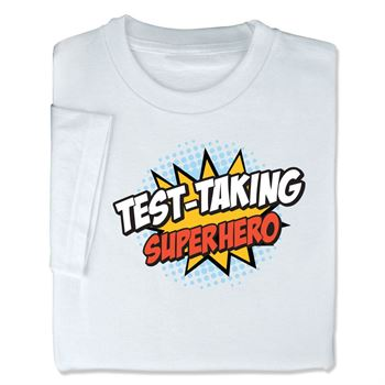 Test-Taking Superhero Adult-Size T-Shirt