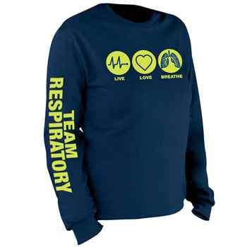 Respiratory Care: Live, Love, Breathe Long Sleeve T-Shirt