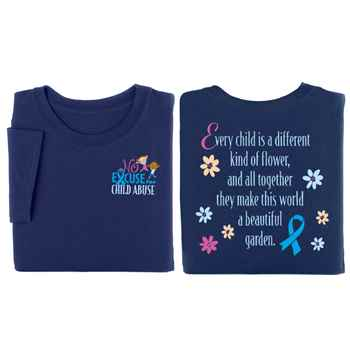 No Excuse For Child Abuse Two-Sided Short-Sleeve T-Shirt