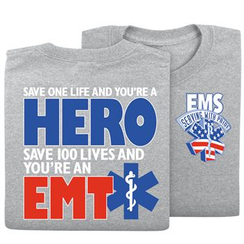 EMS: Serving With Pride 2-Sided T-Shirt