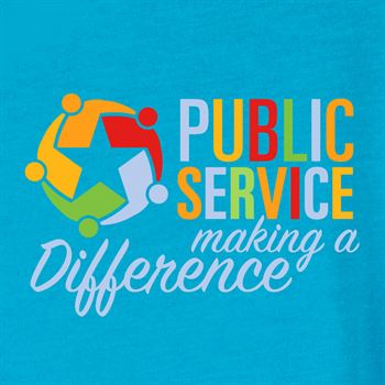 Public Service Making A Difference V-Neck Unisex T-Shirt