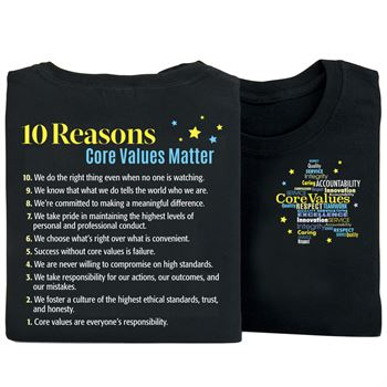 Core Values 2-Sided T-Shirt