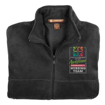 Proud Member Of An Awesome Emergency Nursing Team Embroidered Unisex Full-Zip Fleece Jacket