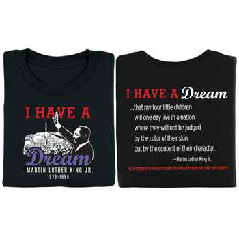 Martin Luther King Jr. Commemorative I Have A Dream 2-Sided Adult T-Shirt