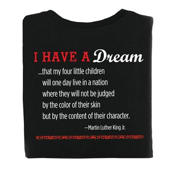 Martin Luther King Jr. Commemorative 2-Sided Adult T-Shirt