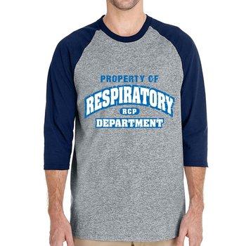 Property Of Respiratory Department Gildan® Heavy Cotton™ 3/4 Raglan Sleeve T-Shirt