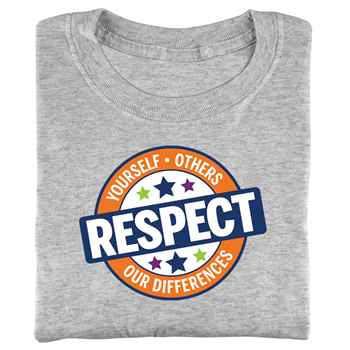 Respect Yourself, Others, Our Differences Adult T-Shirt