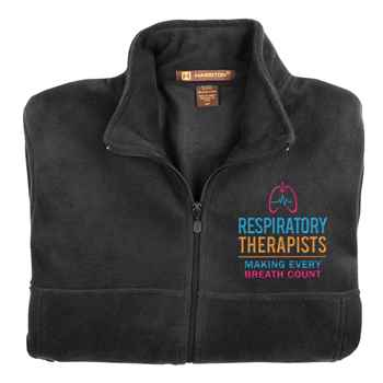 Respiratory Therapists: Making Every Breath Count Embroidered Unisex Fleece Full-Zip Jacket