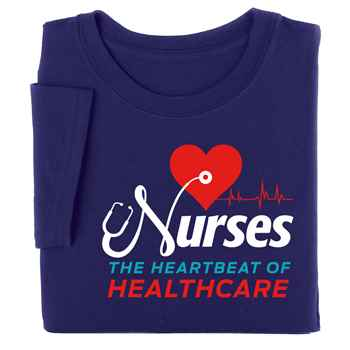 Nurses: The Heartbeat Of Healthcare Short-Sleeved Recognition T-Shirt
