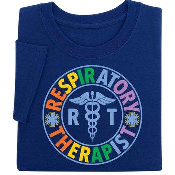 Respiratory Therapist Caduceus Design Short-Sleeve Recognition T-Shirt