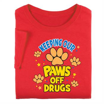 Keeping Our Paws Off Drugs Adult T-Shirt