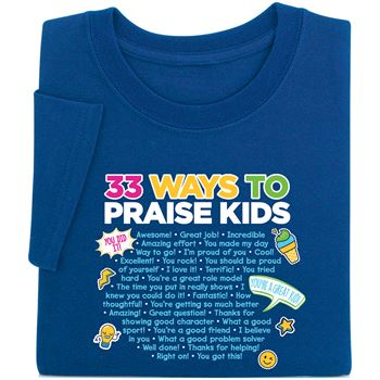 33 Ways To Praise Kids Navy Short Sleeve T-Shirt