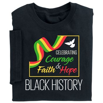 Black History: Celebrating Courage, Faith & Hope Youth T-Shirt