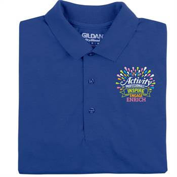 Activity Professionals: Inspire, Engage, Enrich Embroidered Gildan® DryBlend Polo Shirt