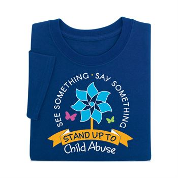 See Something. Say Something. Stand Up To Child Abuse Navy Short-Sleeve T-Shirt
