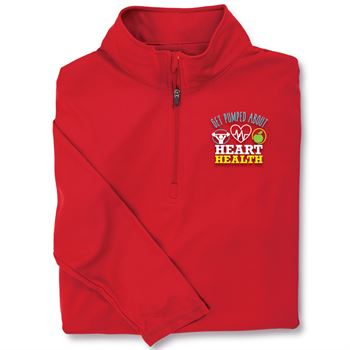 Get Pumped About Heart Health Red Performance Quarter-Zip Pullover