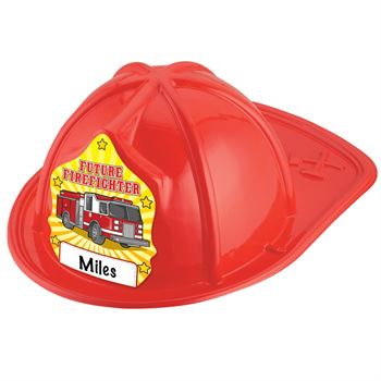 Future Firefighter Hat (Write In Name) - Red