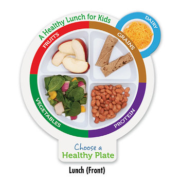 School Aged A Healthy Plate Portion Education Cut-Outs