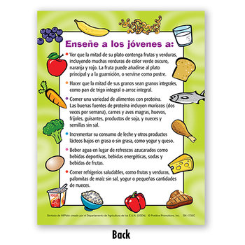 "9 1/4"" Myplate Child's Portion Meal Plate With Educational Card (Spanish)"