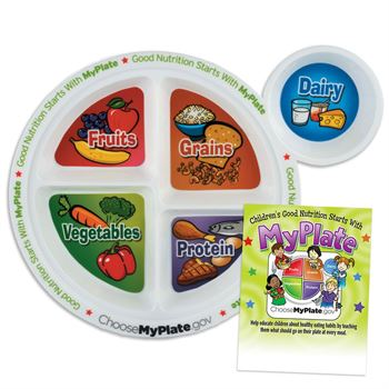 Child's Meal And Portion Plate With Educational Card