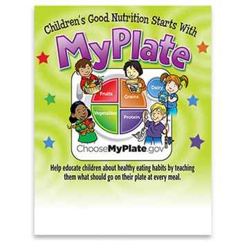 Child's Portion Meal Plate With Educational Card