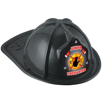 Black Junior Firefighter Hat With Fireman & Axe Design
