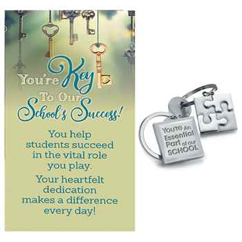 You're An Essential Part Of Our School Puzzle Key Ring With Keepsake Card